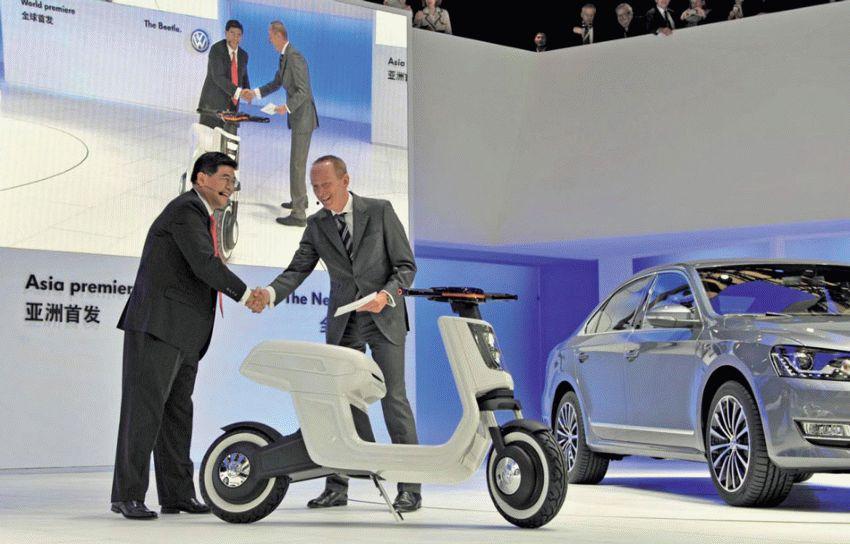 moto  | yelektroskuter ot volkswagen 1 | Электроскутер от Volkswagen | электроскутер