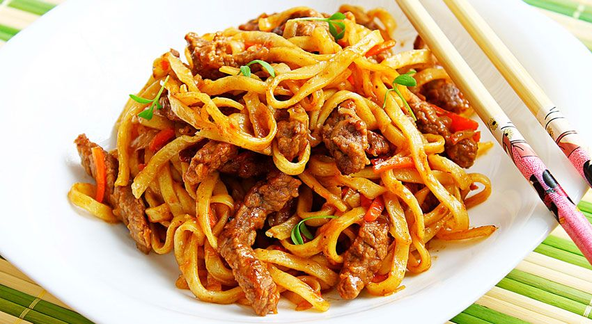 kulinariya  | makarony po kitayski 2 | Макароны по китайски |