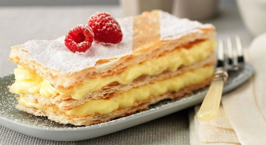 kulinariya  | sloenye pirozhnye s kremom 1 | Слоеные пирожные с кремом | Выпечка